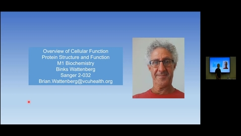 Thumbnail for entry 210809 - M1 - 8am - MBHD - The Cell & Protein Structure and Function - Wattenberg