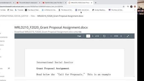 Thumbnail for entry WRLD210 GRANT PROPOSAL TUTORIAL