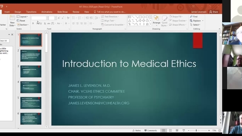 Thumbnail for entry 201105 - M1 - 1pm - PPS - Intro to Ethics - Levenson