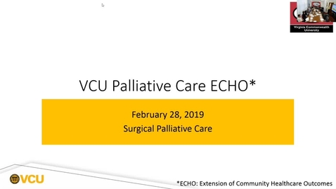 Thumbnail for entry Palliative ECHO: Surgical Palliative Care (Feb. 2019)
