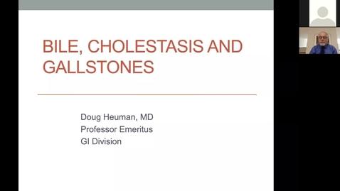Thumbnail for entry 210323 - M1 - 8am - GI - Bile, Cholestasis and Gallstones - Heuman