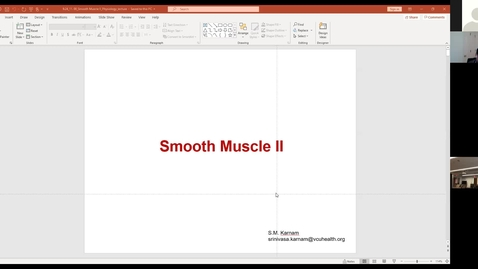 Thumbnail for entry 200924 - M1 - 11am - PHYS - Smooth Muscle 2 - Karnam