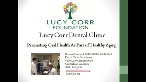 Thumbnail for entry Lucy Corr Dental Clinic Dominion Place Video