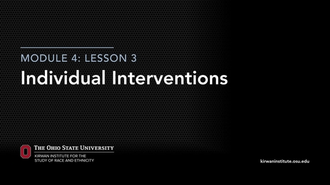 Thumbnail for entry Module 2: Individual Interventions