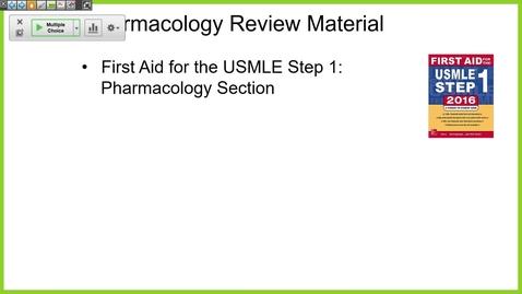 Thumbnail for entry 210930 - M1 -  8am - PHAR - Intro to Pharmacology -  Negus