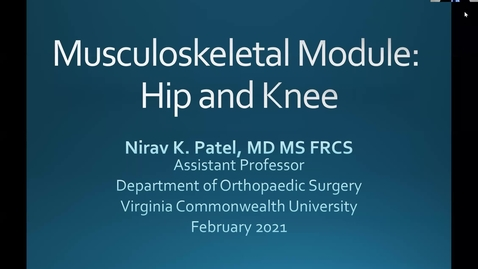 Thumbnail for entry 210211-M1-8am-MOVE-Ortho: Hip and Knee-Patel