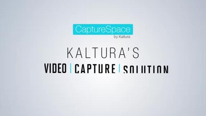 Kaltura CaptureSpace Intro