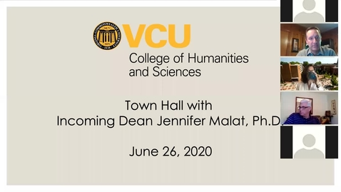 Thumbnail for entry Town Hall with Incoming Dean Jennifer Malat, Ph.D. (June 26, 2020)