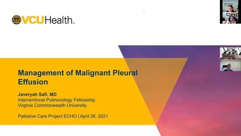 Thumbnail for entry Palliative ECHO: Malignant Pleural Effusion (Apr. 2021)