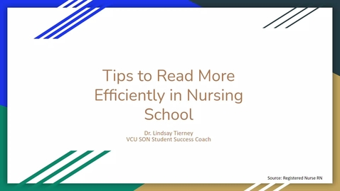 Thumbnail for entry Tips to Read More Efficiently in Nursing School
