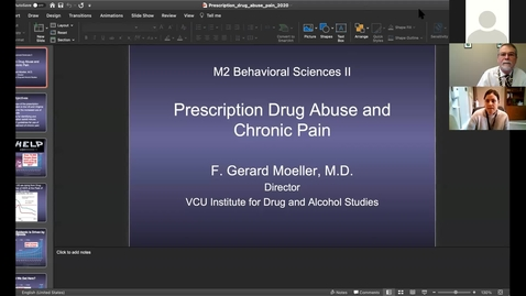 Thumbnail for entry 201210 - M2 - 9am - MBB - Pain Management and Prescription Opioid Abuse - Moeller