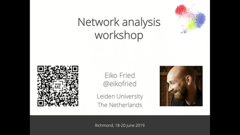 Thumbnail for entry Network Psychometrics Workshop | 2019-06-18