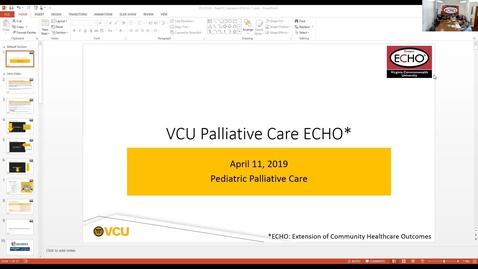 Thumbnail for entry Palliative ECHO: Pediatric Palliative Care (Apr. 2019)