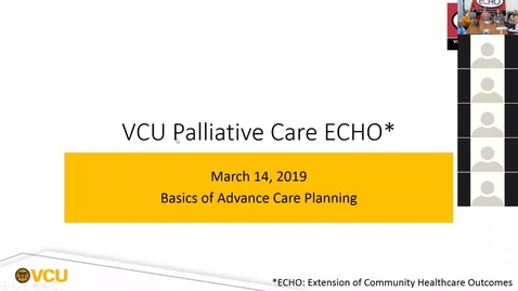 Thumbnail for entry Palliative ECHO: Advance Care Planning (Mar. 2019)