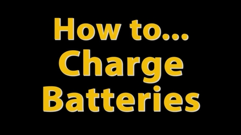 Thumbnail for entry MSS How-To Video: Charging Batteries
