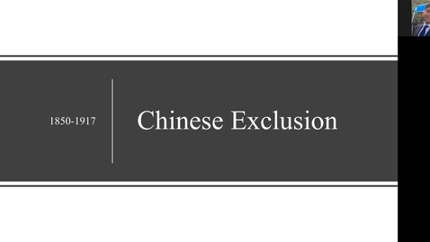 Thumbnail for entry Chinese Exclusion