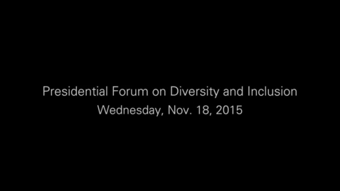 Thumbnail for entry VCU Presidential Forum on Diversity and Inclusion.mp4