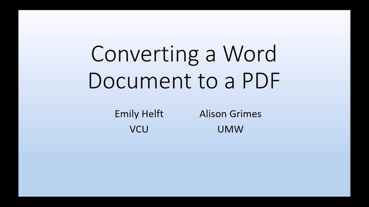 Thumbnail for channel Word Document Accessibility Mini Course