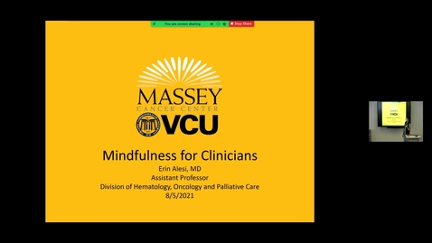 Thumbnail for entry 210805 - M1 - 10am - PCM - Lecture: The Basics- Mindfulness - Alesi