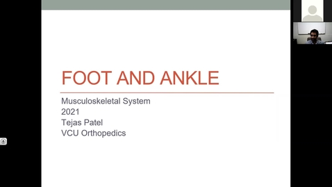 Thumbnail for entry 210211-M1-9am-MOVE-Ortho: Ankle and Foot-Patel