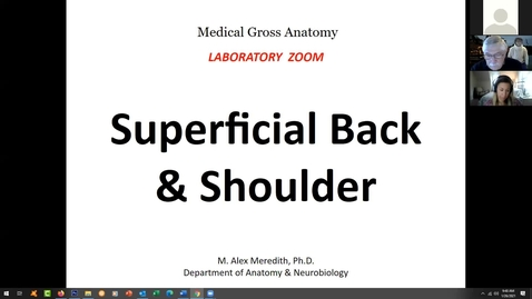 Thumbnail for entry 210126-M1-945am-MOVE-Anatomy Lab: Superficial Back and Shoulder-Meredith, Harrell