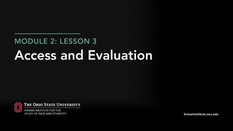 Thumbnail for entry Module 1: Access and Evaluation in Higher Education
