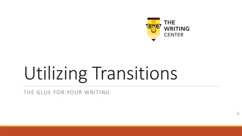 Thumbnail for entry Transitions - Quiz