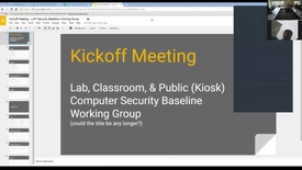 Thumbnail for entry LCP Security Baseline Working Group - Kickoff Meeting - 05-18-2016 - Part 1
