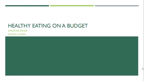 Thumbnail for entry Healthy Eating on a Budget