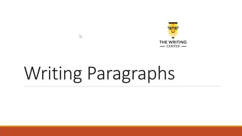 Thumbnail for entry Paragraphs - Quiz