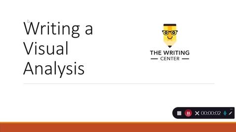 Thumbnail for entry Writing a Visual Analysis