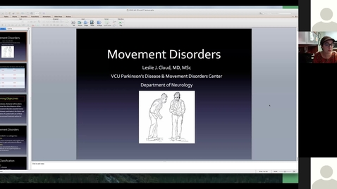 Thumbnail for entry 201111 - M2 - 9am - MBB - Clinical Aspects of Movement Disorders (part 1) - Cloud