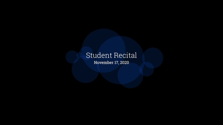 Thumbnail for channel Fall 2020 Recitals & Concerts