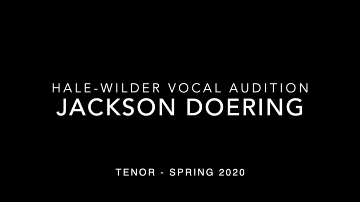 Thumbnail for channel Hale-Wilder Vocal Scholarship Auditions