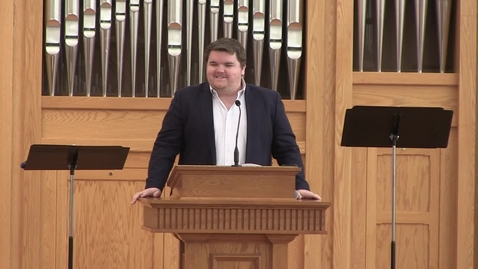 "Thumbnail for entry Ryan McCoy: Outstanding Student Preacher - ""Tedious Testimony"""