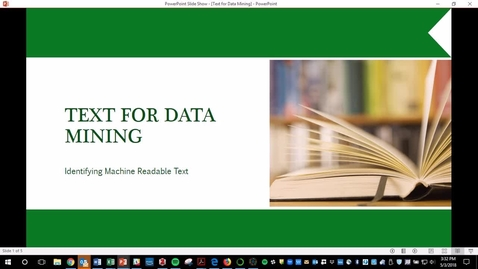 Thumbnail for entry Text for Data Mining