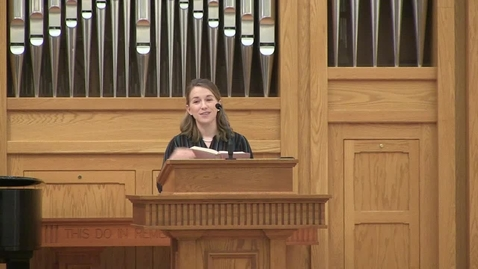 Thumbnail for entry Truett Chapel, Dr. Rebecca Hays (02/18/2020)