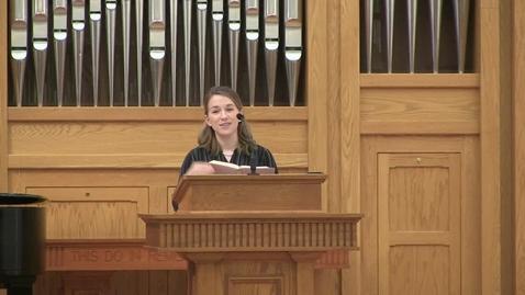 Thumbnail for entry Truett Chapel, Dr. Rebecca Hays (02/18/2020)
