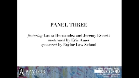 Thumbnail for entry Laura Hernandez - The Natural Rights of Immigrants vs. The Sovereign: The Conundrum Paine Did Not Solve - 2016 Panel 3