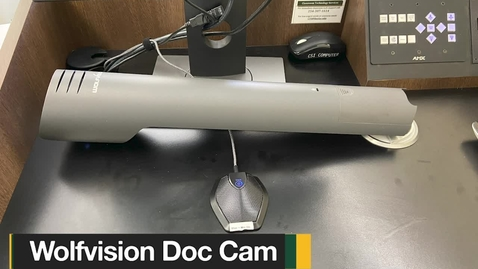 Thumbnail for entry Using a WolfVision Document Camera with software applications