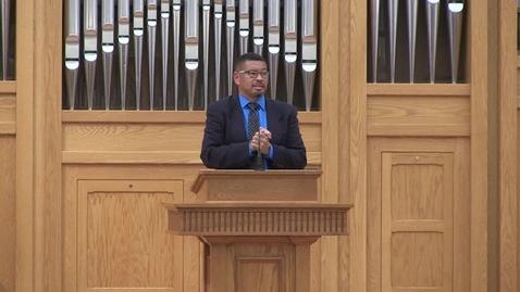 Thumbnail for entry Truett Chapel, Dr. Vincent Bacote (10.22.19; T.B. Maston Lecture)