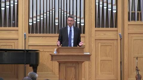 Thumbnail for entry Truett Chapel, Jeremy Everett (09/03/19)