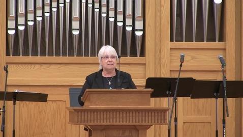 Thumbnail for entry Truett Chapel, Reverend Kathy Reid (10.8.19)