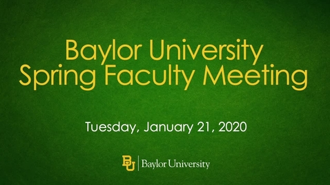Thumbnail for entry 2020 Spring Faculty Meeting