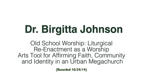 Thumbnail for entry Dr. Birgitta Johnson