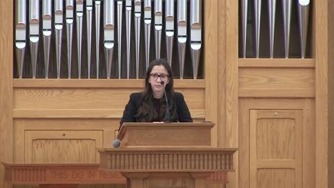 Thumbnail for entry Truett Chapel, Dr. Angela Gorrell (01.21.2020)