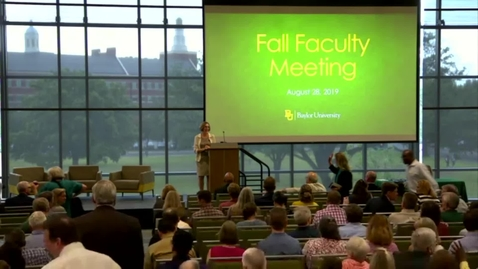 Thumbnail for entry 2019 Fall Faculty Meeting