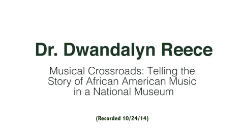 Thumbnail for entry Dr. Dwandalyn Reece