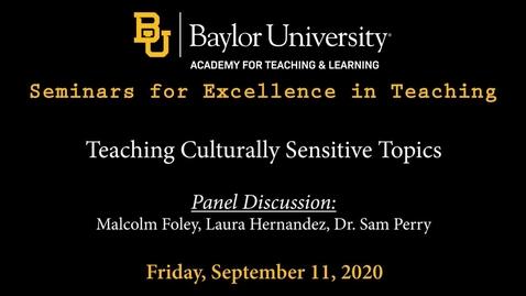 Thumbnail for entry SET Fall 2020 - Teaching Culturally Sensitive Topics