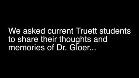 Thumbnail for entry Dr. Gloer Retirement Video